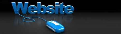 "image of a mouse attached to words saying ""website"""